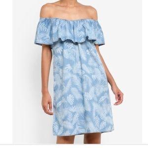 Blue Palm Tree Dress